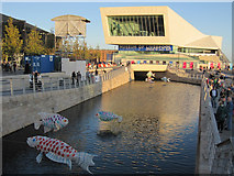 SJ3390 : The Museum of Liverpool and the canal link by John S Turner