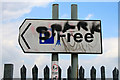 ST6275 : Modified car park sign by David Lally