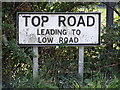 TM2450 : Top Road sign by Adrian Cable