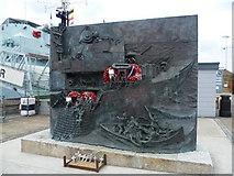 TQ7569 : The National Destroyer Memorial, Chatham by Marathon