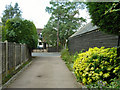 TQ4357 : A public footpath meets Main Road, South Street by Robin Webster