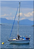 NM8529 : Yacht in Oban Bay by The Carlisle Kid