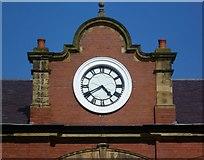 NT2276 : Former Granton Gas Works Station clock by kim traynor