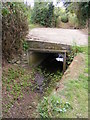 TM4159 : Culvert under the footpath to the A1094 Aldeburgh Road by Geographer