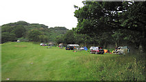 SH6129 : The upper area of the Dinas campsite by Dave Croker
