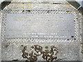 NJ5310 : A marble memorial plaque in Leochel-Cushnie graveyard by Stanley Howe