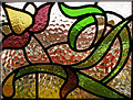 TQ3088 : Stained glass window, Crouch End by Julian Osley