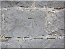 SH4862 : Benchmark on Lôn Parc, Caernarfon by Meirion