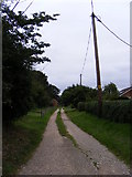 TM4160 : Entrance to Woodside Farm & Orchard Bank & the footpath to Friston Moor by Geographer
