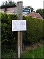 TM4160 : Footpath sign & amendment notice by Geographer
