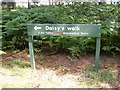 TM3450 : Daisy's Circular Walk sign by Adrian Cable