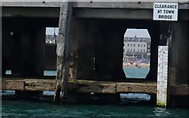 SY6878 : Clearance at Town Bridge, Weymouth Harbour by Nigel Mykura