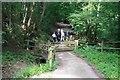 TQ1238 : Path from St John the Baptist's Church Okewood by John Salmon