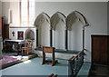 TQ0539 : St Nicolas, Cranleigh - Piscina & sedilia by John Salmon