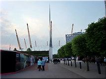 TQ3979 : Entrance to O2 Arena by Christine Matthews