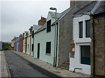 HU4039 : Scalloway: pastel cottages in New Street by Chris Downer