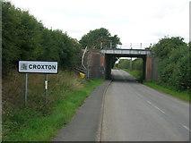 TA0912 : Railway bridge over Croxton Road by JThomas