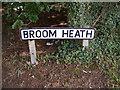 TM2648 : Broom Heath sign by Geographer