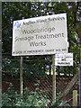 TM2547 : Woodbridge Sewage Treatment Works sign by Geographer