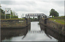 SE3118 : Thornes Flood Lock from below by Mike Todd