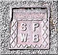 SJ8858 : Staffordshire Potteries Water Board stop-tap by Jonathan Kington