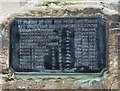 SO8674 : Stone (Worcestershire) War Memorial (2) - dedication plaque by P L Chadwick