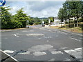 SN8605 : Mini-roundabout between Cwmgwrach and Blaengwrach by Jaggery