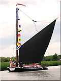 TG3715 : The wherry Albion on the River Bure by Evelyn Simak