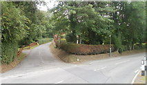 SN7634 : Southern end of Llanfair Hill, Llandovery by Jaggery