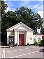 TM2247 : Angela Cobbold Memorial Church Room & Telephone Box by Adrian Cable