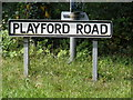 TM2347 : Playford Road sign by Adrian Cable