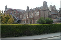 SN7634 : NW edge of Llandovery College by Jaggery