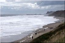 NZ8612 : The beach at Sandsend by Dave Hitchborne