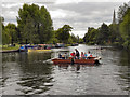 SP2054 : River Avon, Chain Ferry at Stratford by David Dixon