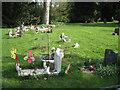 SP2765 : Children's graves, Warwick old cemetery  by Robin Stott