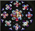 O2838 : Rose Window, Church of the Assumption, Howth, Ireland by Christine Matthews