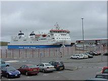HU4642 : Lerwick: MV Hjaltland in dock by Chris Downer