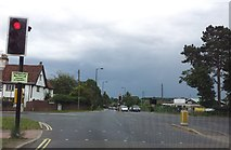 TM2850 : Junction of Wood Lane & Melton Road by Helen Steed