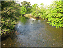 SS8978 : View along Ogmore River from New Bridge by Nick Smith