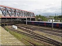 TQ2282 : Old Oak Common - West London line bridge by David Hawgood
