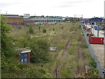 TQ2182 : Old Oak Common - proposed line of HS2 by David Hawgood