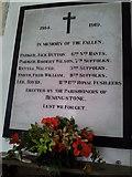 TM1453 : WW1 War Memorial, Hemingstone by Helen Steed