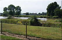 TQ1776 : The Thames Path and Syon House from the Royal Botanic Gardens by Bill Boaden