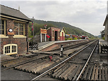 SE8191 : North Yorkshire Moors Railway, Levisham by David Dixon