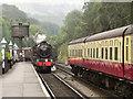 NZ8205 : 44767 George Stephenson Arriving at Grosmont. by David Dixon