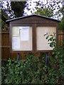 TM2153 : Clopton Parish Notice Board by Adrian Cable