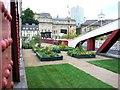 NZ2563 : A garden on the Swing Bridge, Newcastle Gateshead Bridges Festival by Andrew Curtis