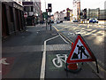 SJ8498 : Segregated shared use path on Great Ancoats Street, Manchester by Phil Champion
