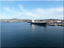 HU4642 : Lerwick: big ship docked at Holmsgarth by Chris Downer