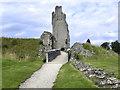 SE6183 : Helmsley Castle South Gate by David Dixon